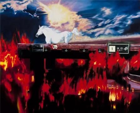 于向溟《荒城9-南堤寺二桥的下午》180×225cm 布面油画 2010