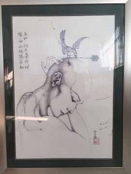 张巳阳 《烟花铀》 75×53cm 纸上圆珠笔 2014