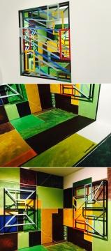 梁曼琪2016年新作三维绘画空间装置《重叠色域》