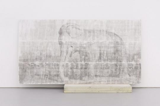 李竞雄作品《野兽绘画N0.5 》 铝板 汽车漆 墙面漆 工程纸 木板 紫铜