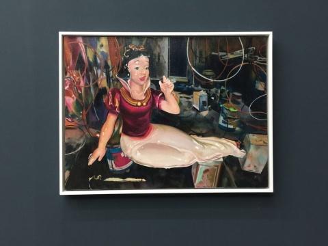 《金色系列:白雪公主》 60×80cm 布面油画 2015
