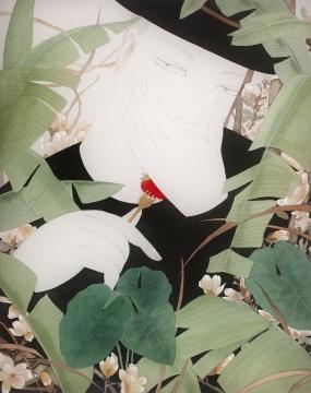 狄青 《春造》 50×40cm 绢本设色 2015