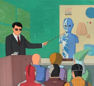 崔君 《45分钟包你学会解剖外星人》 90×100cm 布面丙烯 2014