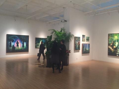 莫頔作品展览现场