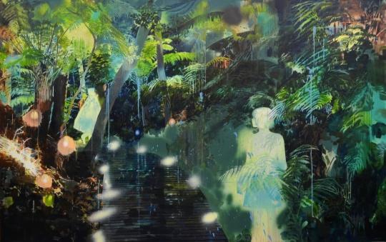 莫頔 《吹笛手》170×270cm 布面油画 2015