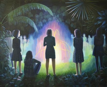 莫頔 《梦的入口》180×220cm 布面油画 2013