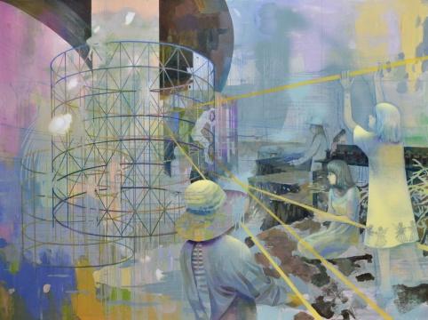 莫頔 《逃离》120×160cm 布面油画 2015