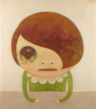 奈良美智 《无题》 162×145.5cm 布面丙烯 2007  估价:1000 - 1500万港元 现当代亚洲艺术晚间拍卖