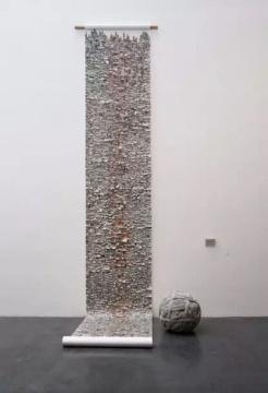 王雷 《人民日报》线球直径80cm 展览尺寸可变 报纸搓球 2014