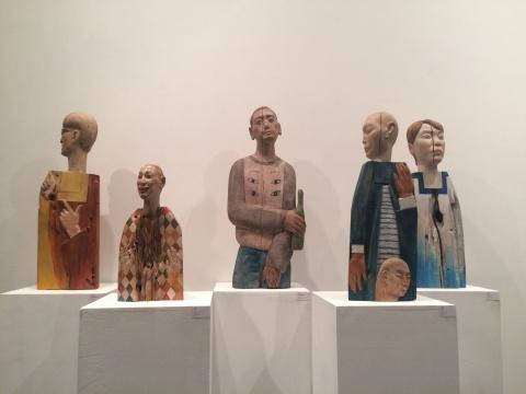 郭立彪《澎湃》、《小丑》、《平武同学的雕像》、《颠倒》、《聪聪指的那个方向》 柏木、樟木