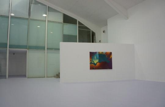 艺术家对空间结构的搭建结合的空间自身的条件和作品的内容