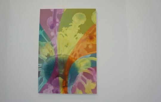"""《收藏家的灯》布面油画 200×300cm 2015  艺术家将一件普通的巴洛克灯具画出了""""妖艳""""的感觉"""