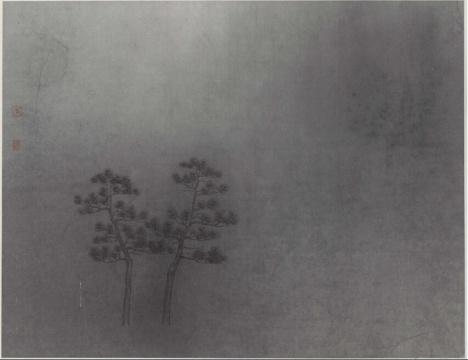 《青松八》 纸本水墨 34x46cm
