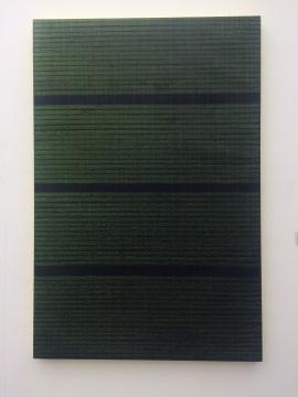 迟群 《相交-黄绿.1》 150×100cm 布面油画 2015