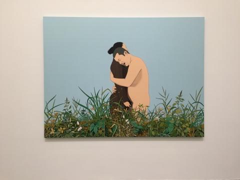 《哑巴的爱情》 180×240cm 布面丙烯 2014