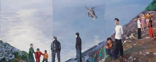 刘小东《三峡新移民》 300 x 1000cm 布面油画 2004 北京保利2006秋拍
