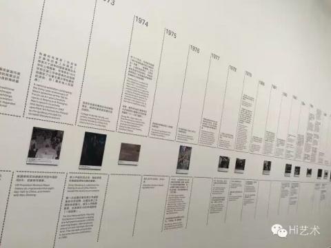 展览现场的收藏年表