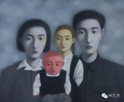 张晓刚《血缘——大家庭17号1998年》 149x180.5cm 1998