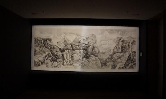 刘丹《无题》 纸本水墨 163×387cm 2014