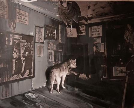 《达达已死》 布面油画 2009