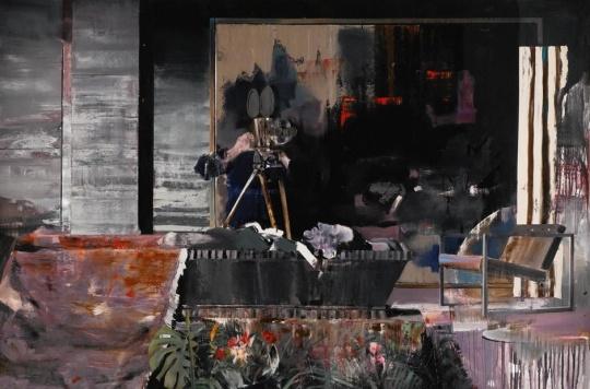 《杜尚的葬礼I》 200×300cm 布面油画 2009