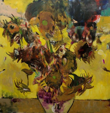 《1937年的向日葵》 280×280cm 布面油画 2014