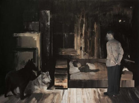 《恶梦》 200×145cm 布面油画 2007