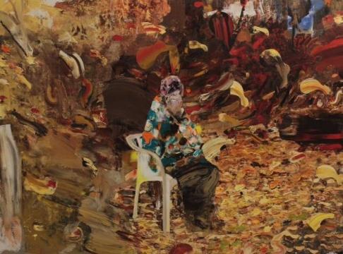 《75岁的达尔文》 200×270cm 布面油画 2014