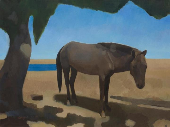 《风景》 布面油画 59.5x80cm 2014