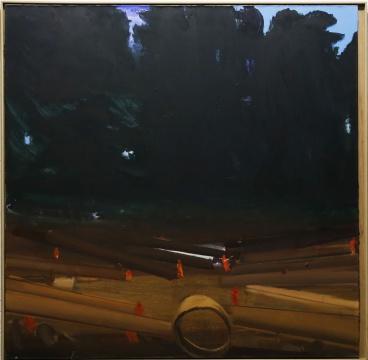 马轲《现场》200x200cm 布面油画2015