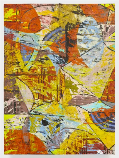 ANGELOTERO  Flying Folding Fans, 2016 oil paint and fabric collaged on canvas 213.4 x 152.4 x 6.4 cmSOLD IN THE RANGE OF $50,000-$100,000 USD