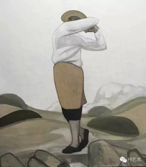 刘晓辉《高原练习场》2014-2016 180x160cm 布面油画