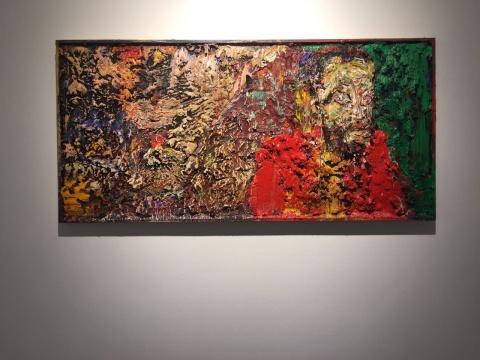 尹朝阳 《肖像》 122×59cm 木板油画 2016