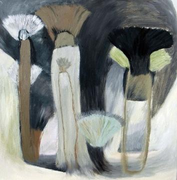王一韦 《棕榈树》 50x50cm 布面油画 2016