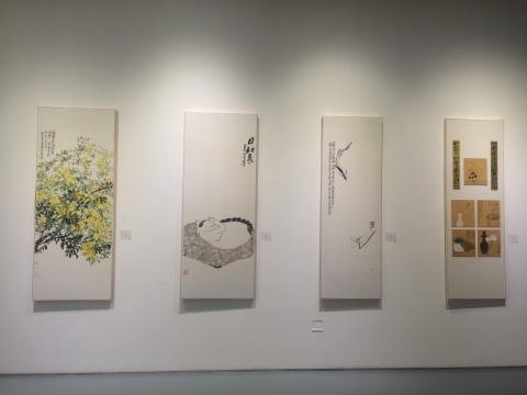 李云雷作品 《带雪冲寒》、《日初长》、《谁是忘机者》、《缘物》 纸本设色