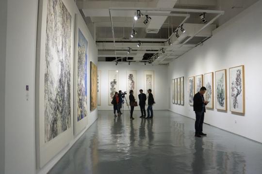 """""""齐物见心--当代中国写意花鸟画七人展第二回""""展览现场"""