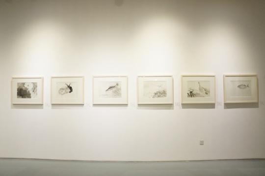 周午生作品《碧盖猗风》、《月中明镜》、《品流第一》、《往来花径》、《依藻长乐》、《悠然自乐》38×52cm(单幅) 纸本设色 2014