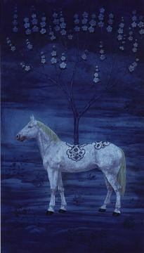 徐累《青花树》 211×120cm 设色纸本 2008 成交价:440万港币 由亚洲收藏家竞得