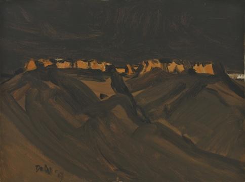 《铁山古堡》 60×80cm 布面油画 2009