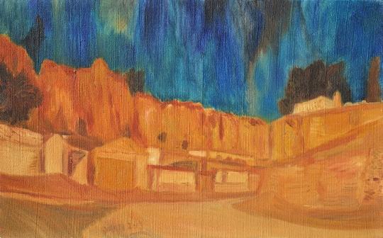 《威坪堡内》 50×80cm 布面油画 2013