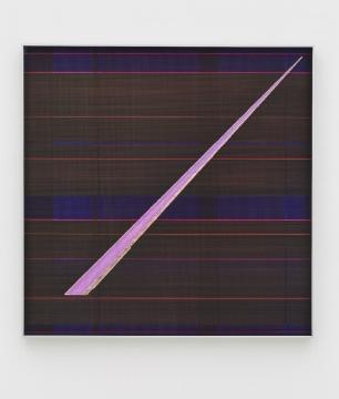 张如怡 《尖-4》 纸上综合材料80×80 cm2016