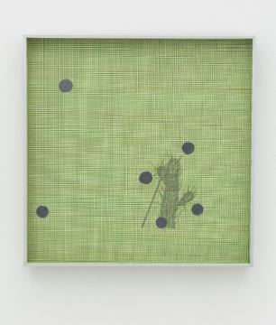 张如怡 《六个闪光的圆点》纸上综合材料 40 x 40 cm2016