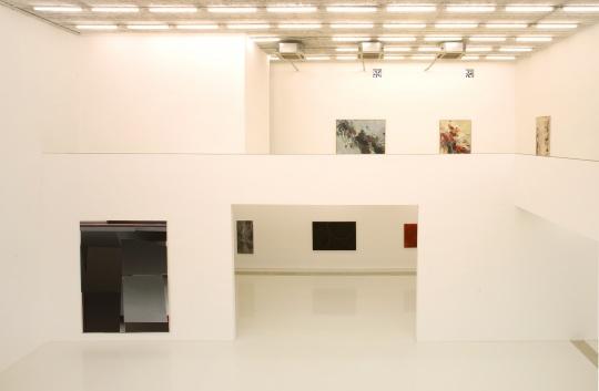 """偏锋新艺术空间""""诗性的抽象绘画——2016抽象艺术第九回展""""展览现场"""