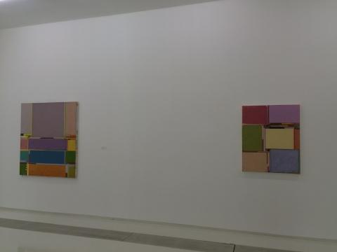 Benjamin APPEL 《Möbel und Schranken 81》70 ×50cm布面油画2014、《Möbel und Schranken 91》140×125cm布面油画2014