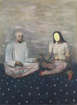 孔千 《打坐》 200×150cm 布面油画 2007