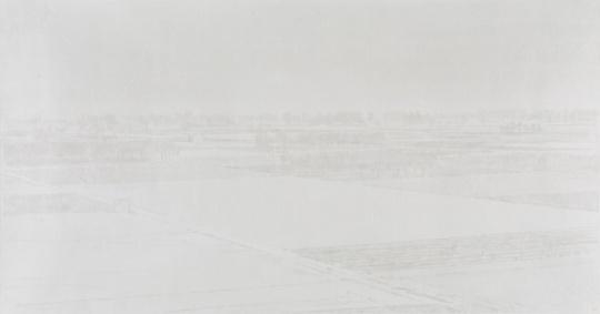 韩冬 《北方以北-2》 77×145cm 皮纸水墨 2016