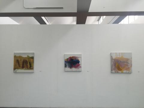 马树青作品,左起:《无题2010-1》、《2010-2》、《2010-3》