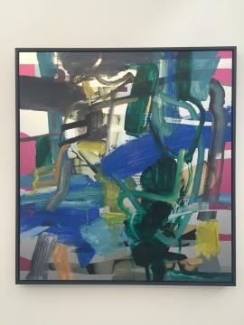 袁佐 《六月的一天3》 120×130cm 铝板油画 2015