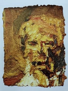 弗兰克·奥尔巴赫 《头像Ⅱ号》 油画 1961