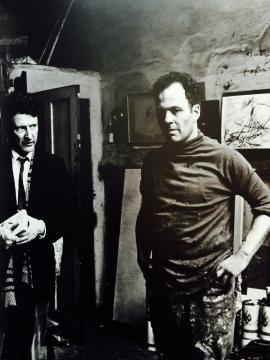 青年时期的奥尔巴赫在工作室